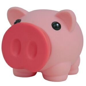 Rubber Piggy Bank w/ Large Snout